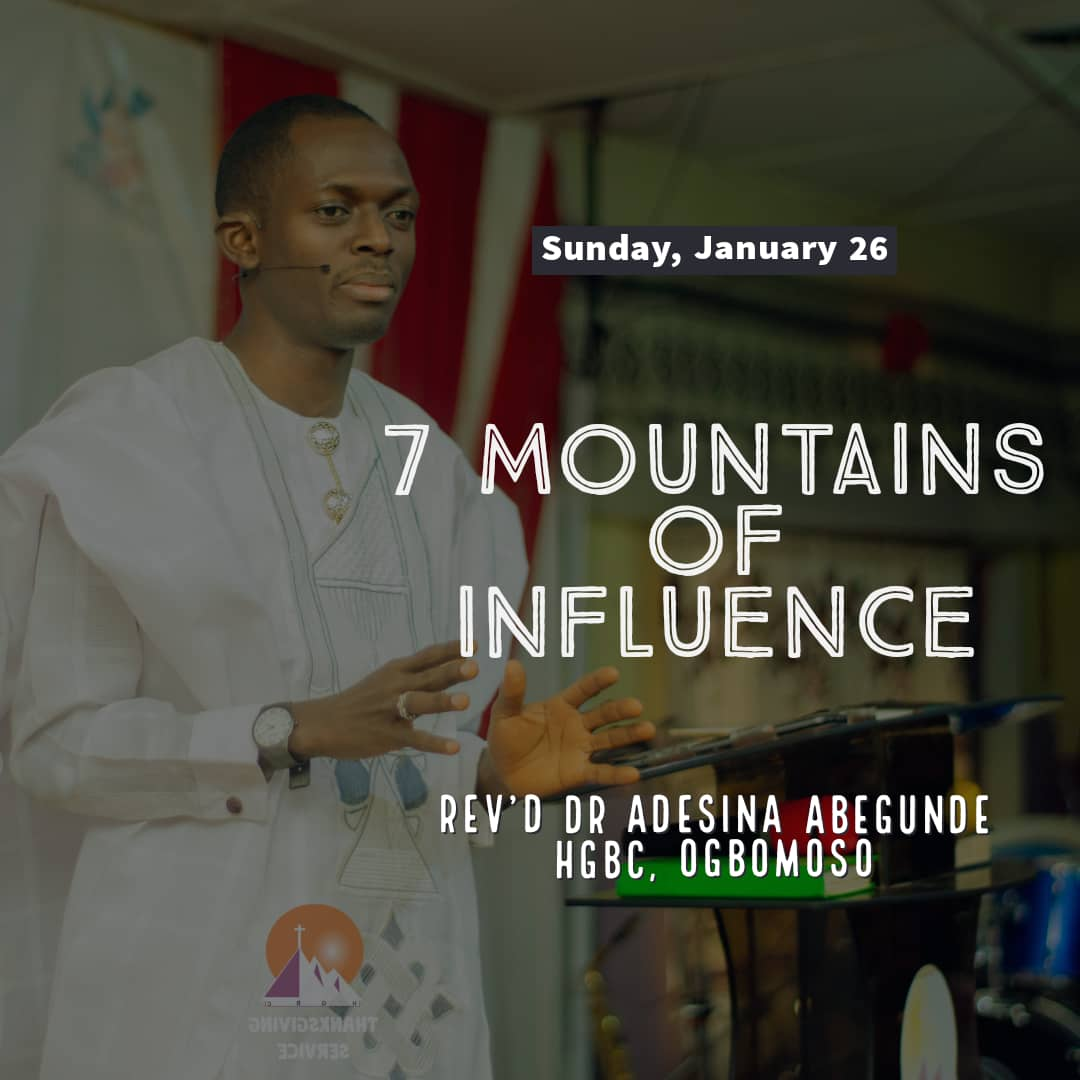7 MOUNTAINS OF INFLUENCE