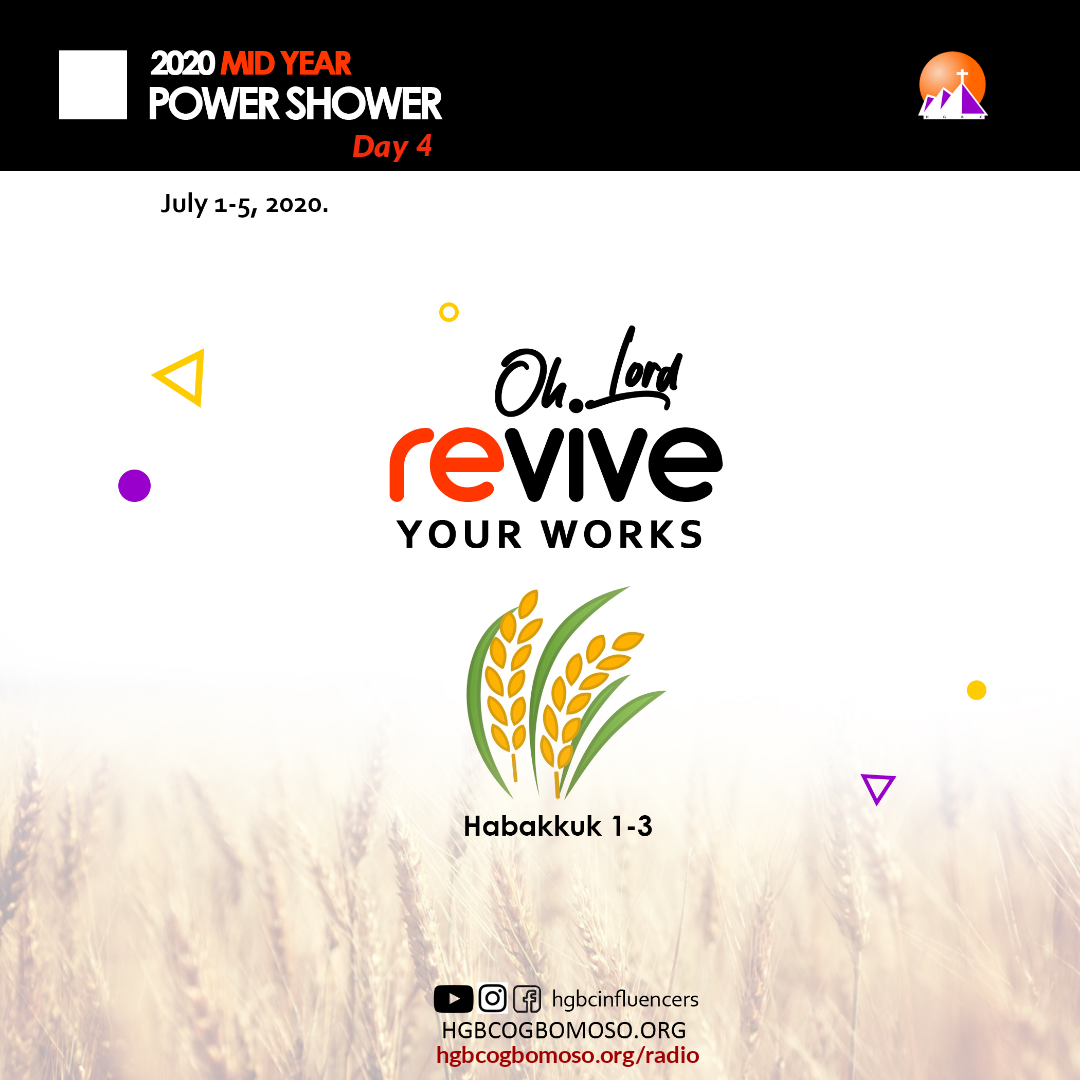 Lord, revive me; Thy work!