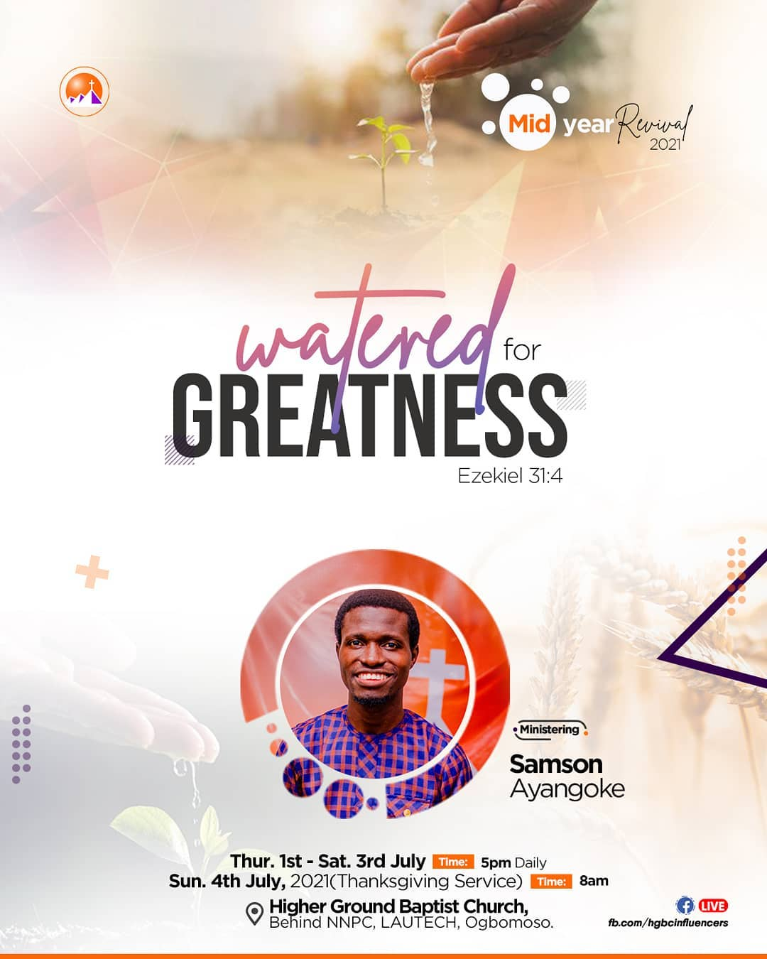 Watered for Greatness (Connecting to the Greatness in YOU)