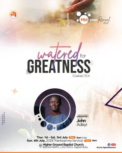 Watered for greatness (Living Waters)