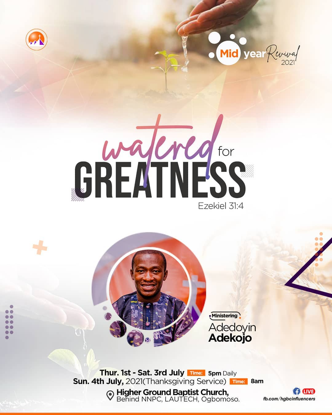Watered for Greatness (Breaking the Yoke of Stagnation)